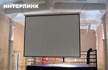 Проекционный экран шириной 400 см. на цепях - 1