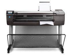 hp DesignJet T830. Фронт, печать листа A3