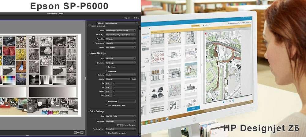 Программы печати для широкоформатных фото принтеров Epson P6000 и HP Z6