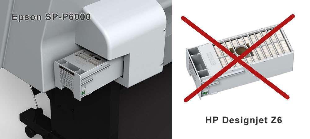Емкость для отработанных чернил для Epson P6000 и HP DJ Z6