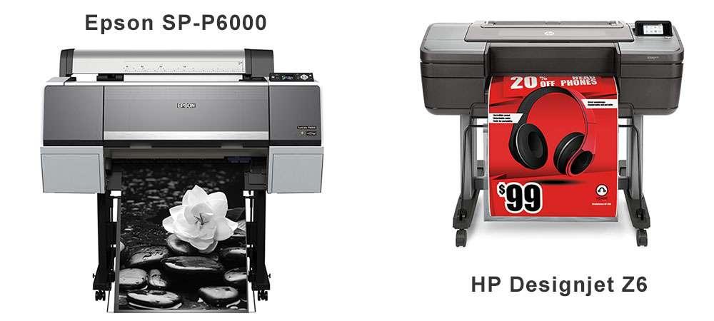 Плоттеры Epson SC P6000 и HP Designjet Z6