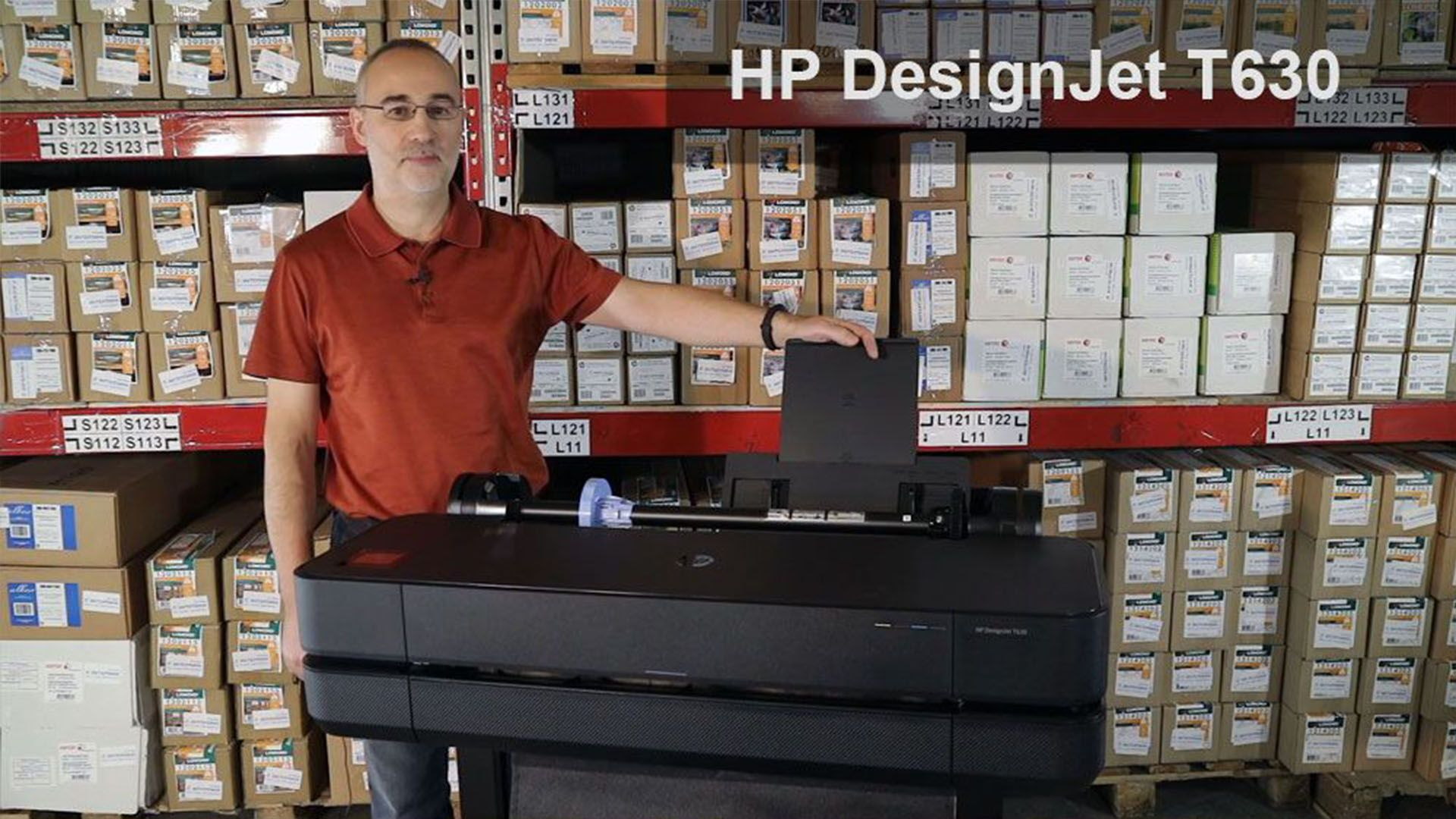 Видео HP DesignJet T630