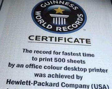 HP Officejet Pro X GUINNES Certificate