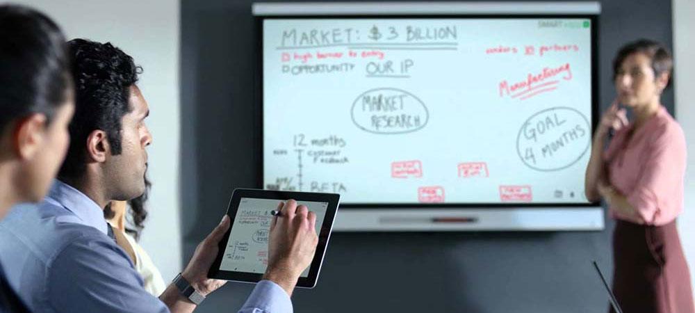 Отображение экрана планшета на Интерактивной панеле