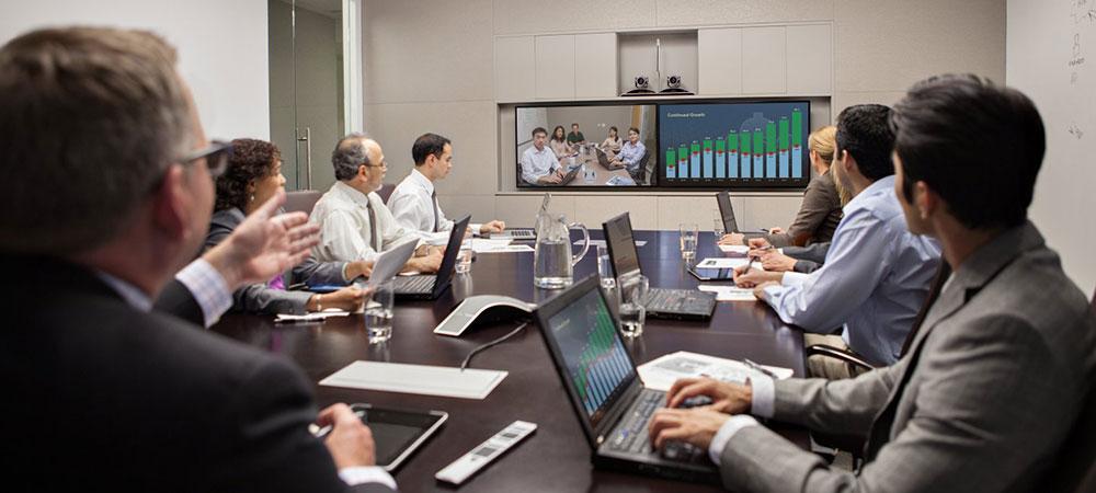Видео конференция на интерактивном экране