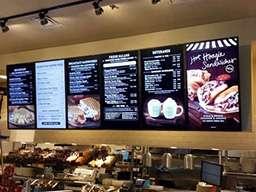 Электронное меню ресторана из 6 вертикальных панелей