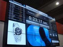 Видеостена - табло в аэропорте с рекламой