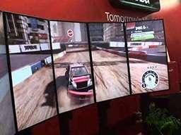 Видеостена из 5-ти экранов полукругом для игры