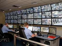 Видеостена из стандартных экранов в службе безопасности