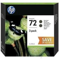HP P2V33A Картридж 72 матовый черный двойная упаковка для Designjet T1100, T1120, T1120ps, T1200, T610, T620, T770, T795 Matte Black