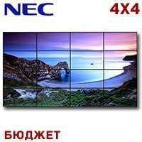 "NEC LCD Video Wall 4x4 1326217 SW Видеостена 4x4 (бюджет с креплением и монтажем) 184"" PVA, 7680x4320, 16:9, 500 кд/м2, 3500:1, рамка"