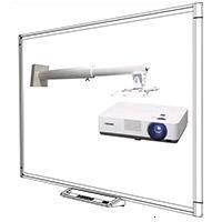 SMART Technologies SBM685-VPL-DX240-DSM-14KW Интерактивная система: доска SB685 диагональ 87/221.3 16:10 (188х117.2 см), резистивная,